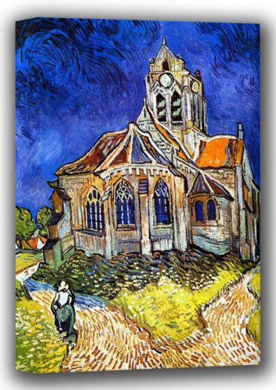 Van Gogh, Vincent: The Church at Auvers-sur-Oise, 1890. Fine Art Canvas. Sizes: A4/A3/A2/A1 (001771